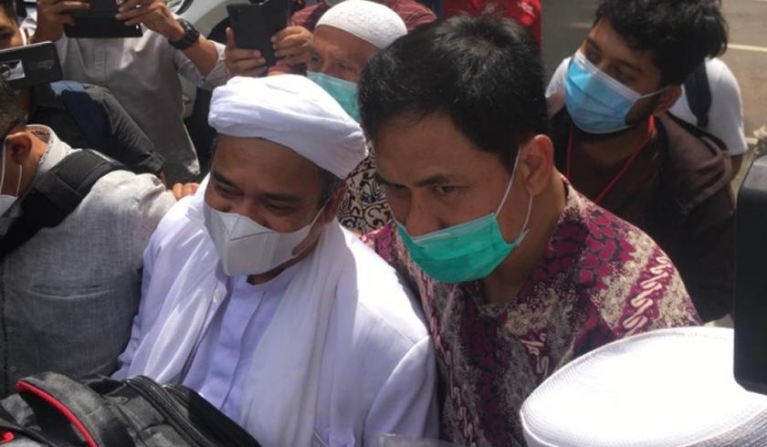 Habib rizieq Shihab di Polda Metro Jaya. (Foto: PMJ News/Fjr)