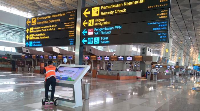 Situasi di Bandara Internasional Soekarno Hatta. (Foto: PMJ News/Hadi).