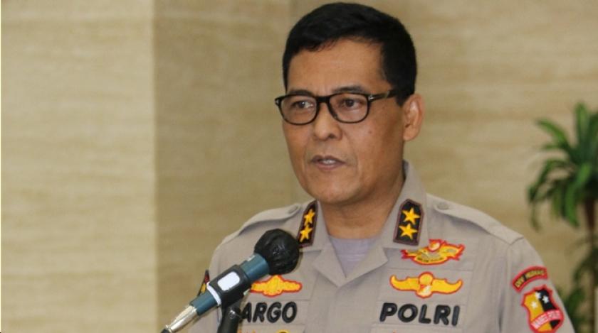 Kadiv Humas Polri Irjen Pol Argo Yuwono saat memberikan keterangan pers. (FotoL PMJ News)