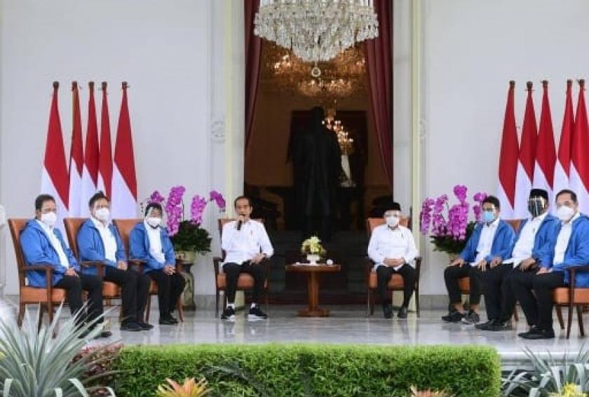 Presiden Jokowi umumkan 6 Menteri barunya. (Foto: Instagram Setkab)