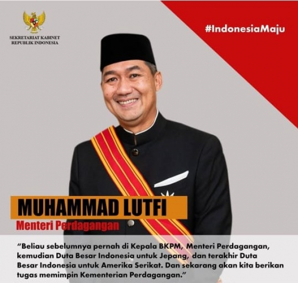 Muhammad Lutfi (Menteri Perdagangan). (Foto: Instagram Setkab)