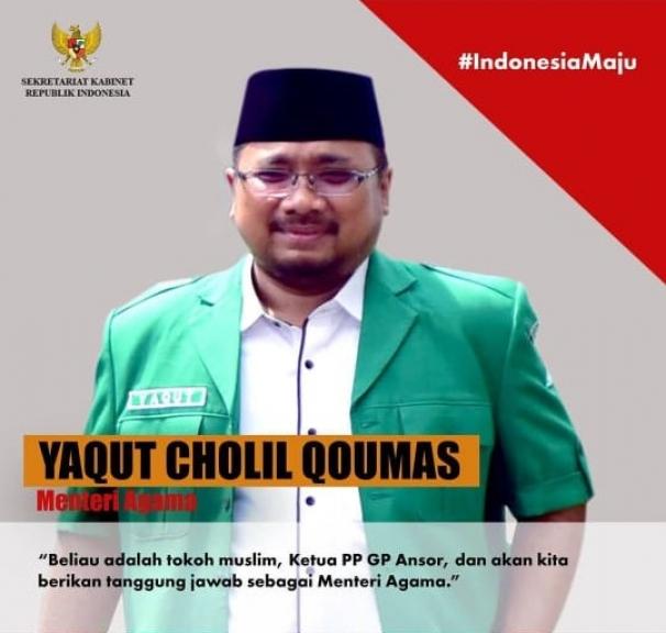 Yaqut Cholil Qoumas (Menteri Agama). (Foto: Instagram Setkab)