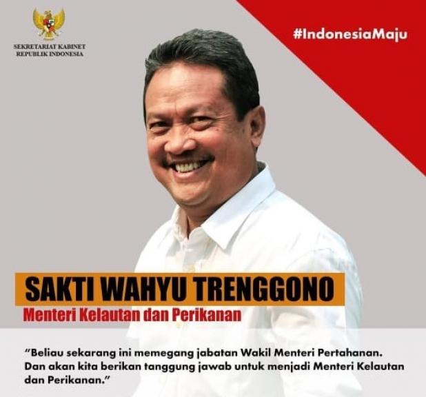 Sakti Wahyu Trenggono (Menteri KKP). (Foto: Instagram Setkab)