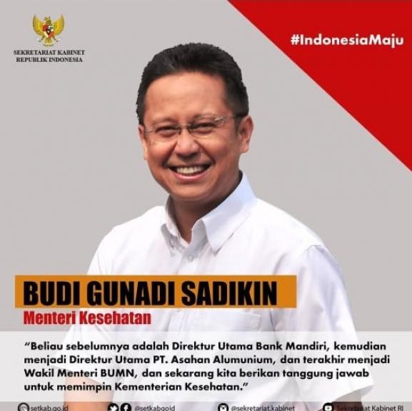 Budi Gunadi Sadikin (Menteri Kesehatan). (Foto: Instagram Setkab)