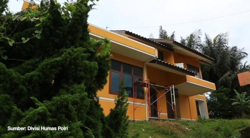 Rumah atau Sasana yang dijadikan pusat pelatihan teroris. (Foto ; Dok Polri).
