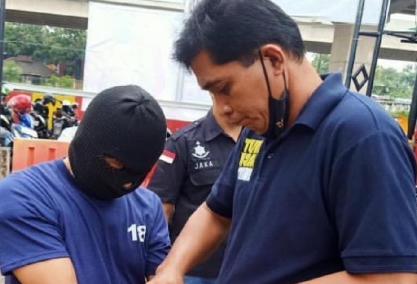 Polisi berhasil menangkap pelaku pelecehan seksual terhadap istri Isa Bajaj. (Foto: PMJ News/Instagram @isa_bajaj).