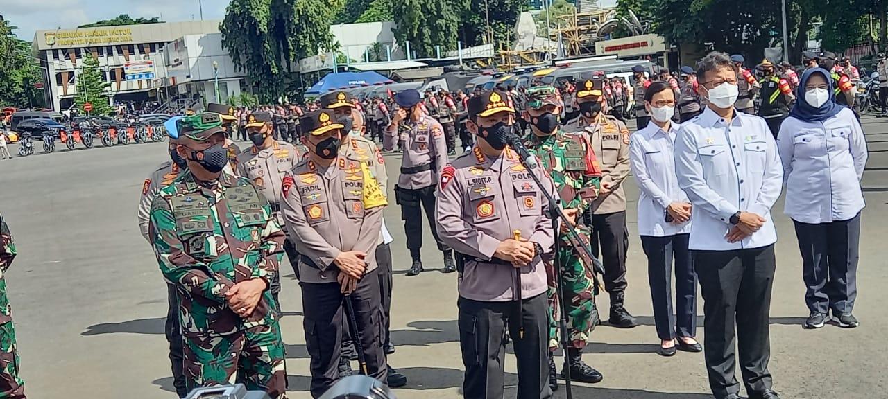 Kapolri Jenderal Listyo Sigit Prabowo sata berikan keterangan. (Foto ; PMJ/Gtg).