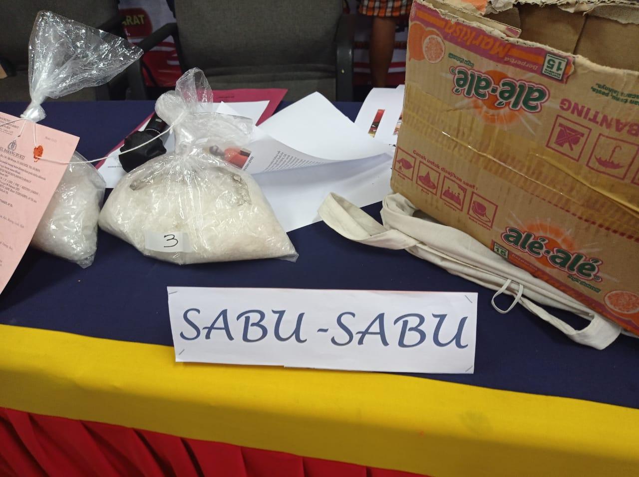 Barang bukti sabu yang diamankan polisi. (Foto: PMJ News)