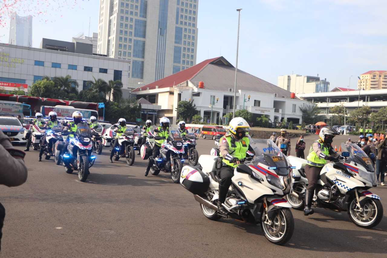 Polda Metro Jaya telah meresmikan peluncuran kamera Electronic Traffic Law Enforcement (E-TLE) mobile. (Foto: PMJ News).