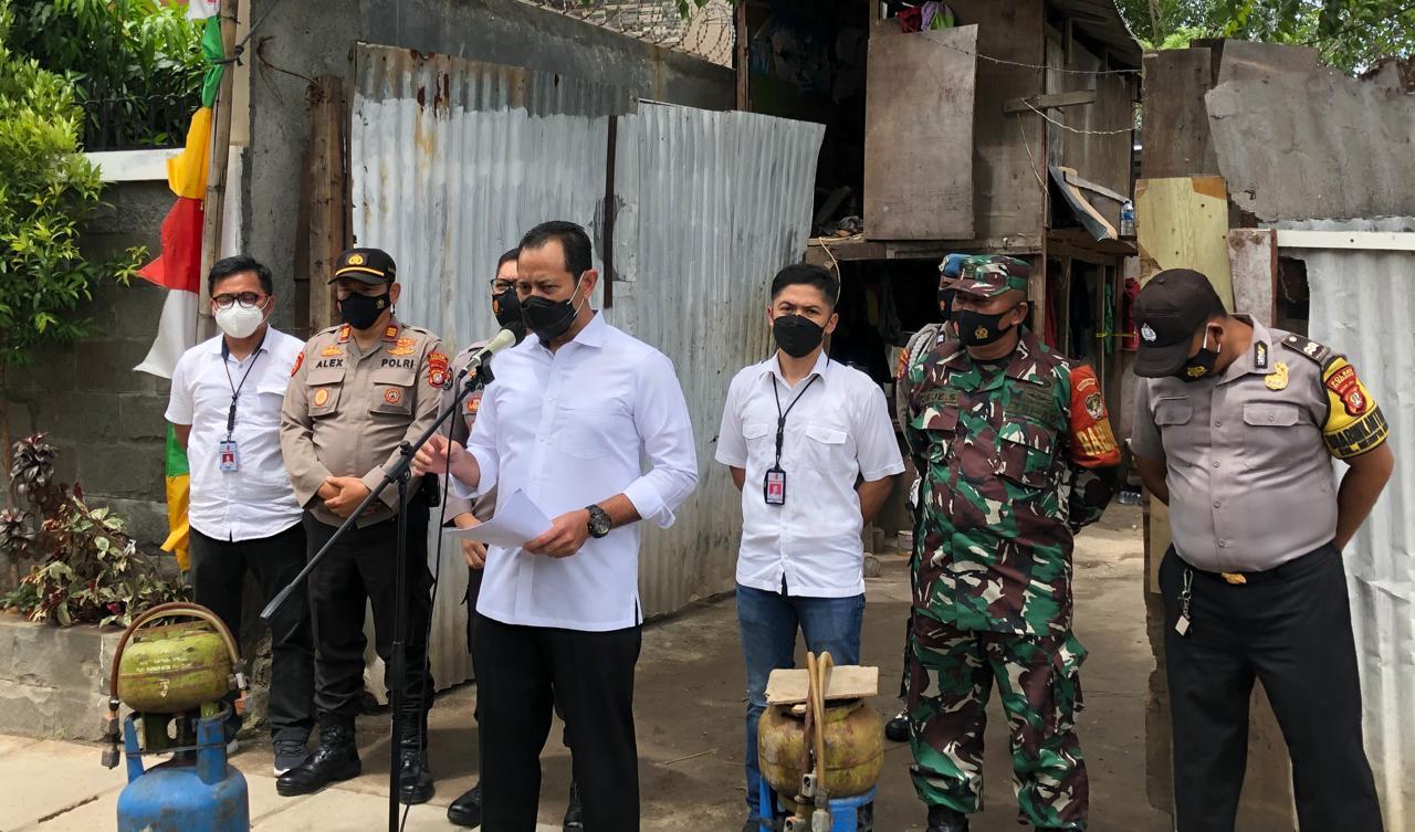Keterangan Kasubdit 1 Dittipidter Bareskrim Polri Kombes Pol Muhammad Zulkarnain dan jajarannya. (Foto: Nia/ TV Polri)
