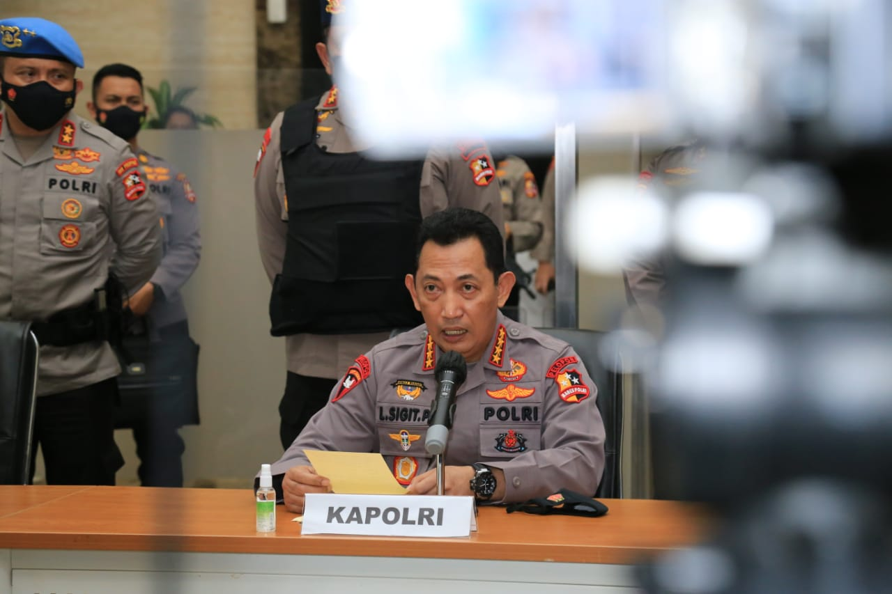 Kapolri Jenderal Pol Listyo Sigit Prabowo. (Foto+ PMJ News)