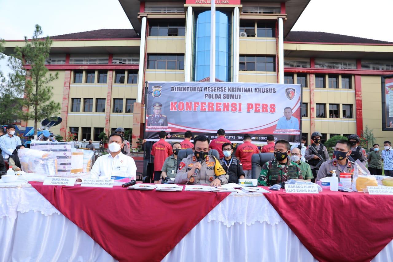Keterangan Kapolda Sumut Irjen Pol Panca Putra Simanjuntak soal kasus alat rapid antigen bekas. (Foto: PMJ News/ Polri TV).