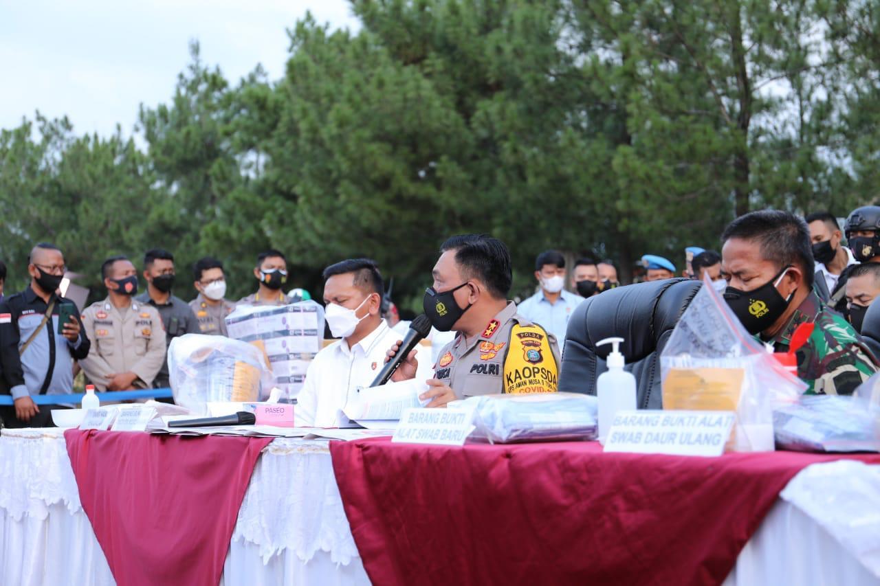 Keterangan Kapolda Sumut dan jajarannya. (Foto: PMJ News/ TV Polri)
