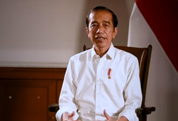 Presiden Joko Widodo saat memberikan keterangan pers. (Foto: PMJ News/YouTube Setpres).