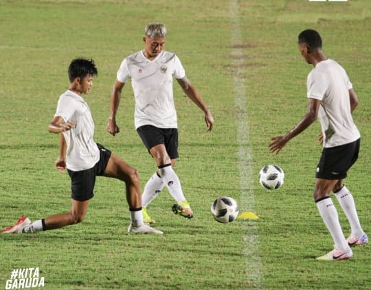 Latihan skuad Timnas senior. (Foto: Instagram PSSI).