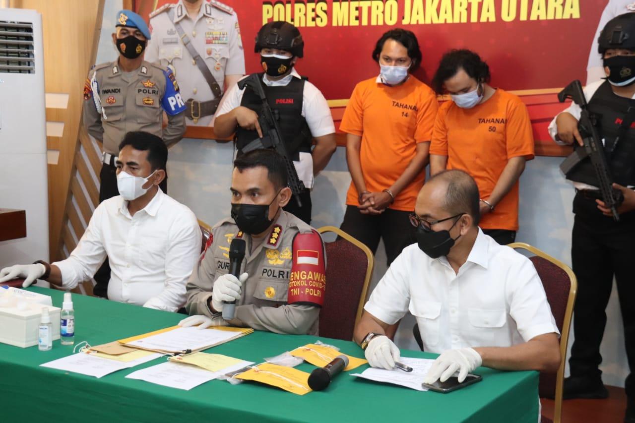 Keterangan Kapolres Jakarta Utara Kombel Pol Guruh Arif Darmawan. (Foto: PMJ News)