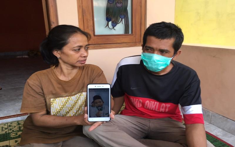 Orangtua korban Naba Faiz. (Foto: Dok Net)