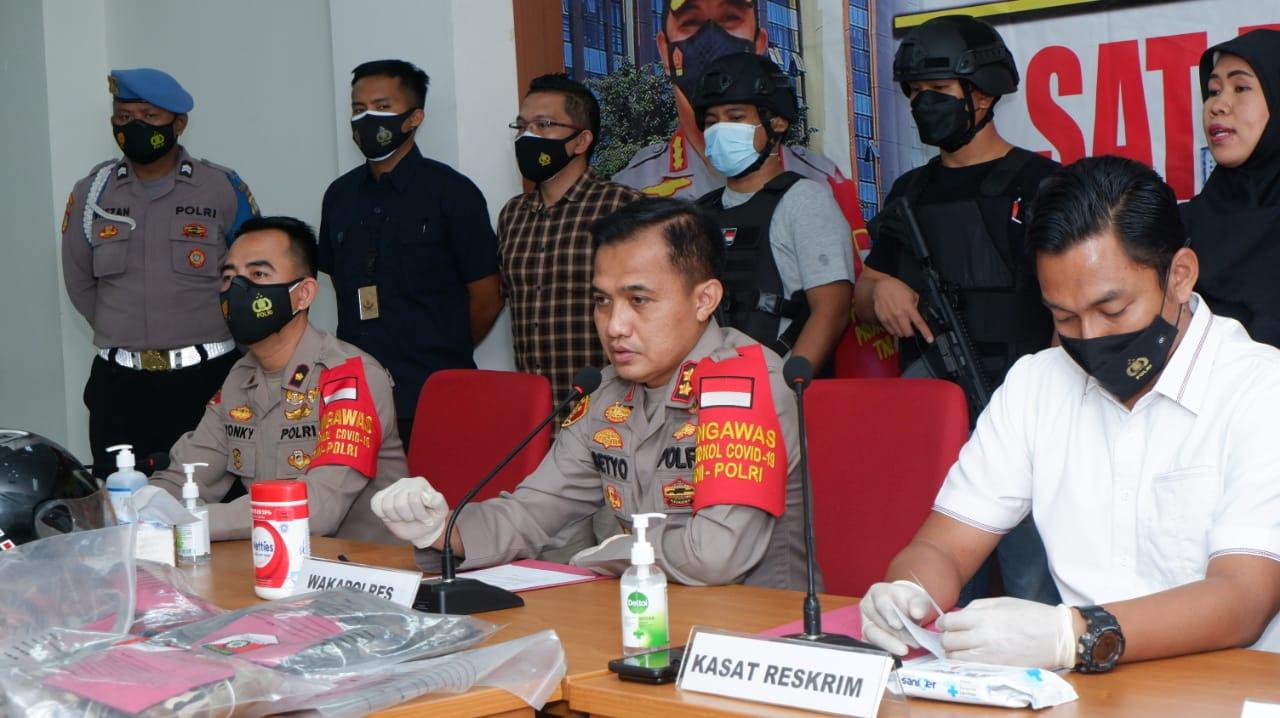 Keterangan jajaran Polres Jakarta Pusat soal kasus begal di Tugu Tani. (Foto: Dok PMJ News)
