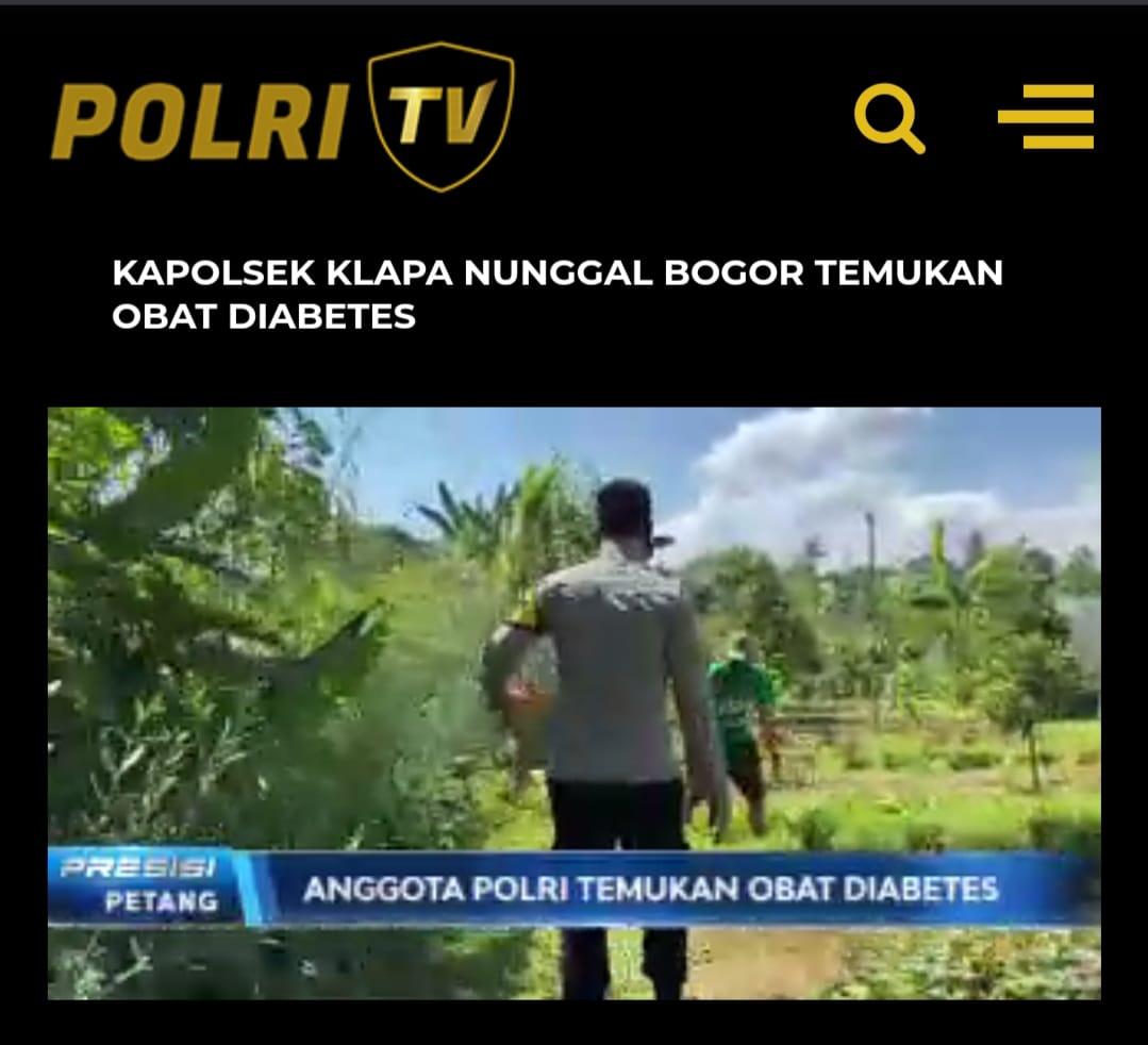 Penemuan obat diabetes oleh Kapolsek Klapanunggal, AKP M Fadli Amri dan jajarannya. (Foto: Tangkapan layar Program Presisi TV Radio Polri).