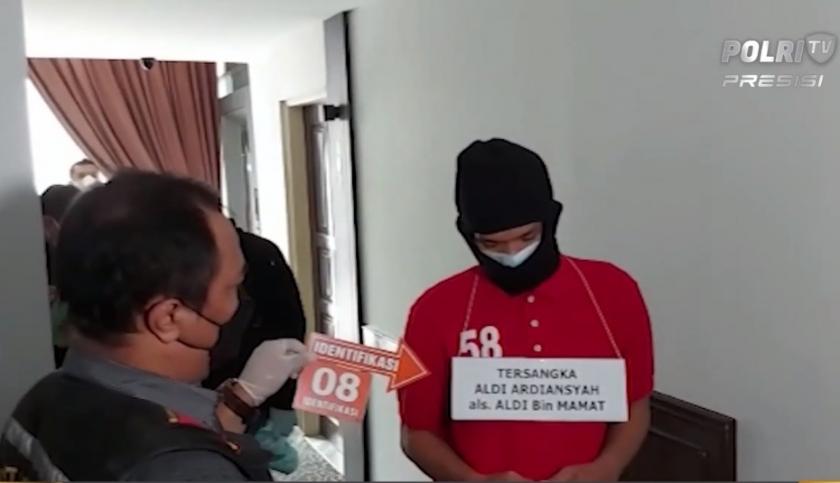 Polisi menggelar rekonstruksi kasus pembunuhan wanita di salah satu hotel kawasan Menteng.. (Foto: PMJ News/Polri TV).