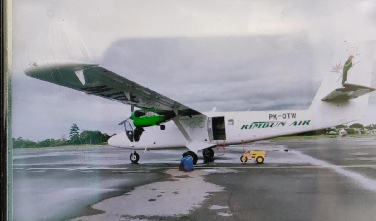 Pesawat Rimbun Air Pk OTW yang hilang kontak. (Foto: PMJ News/ Polda Papua)