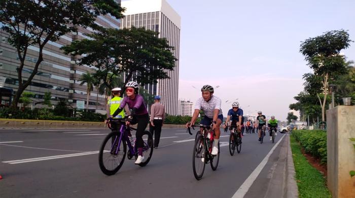 Jalur khusus sepeda di sepanjang jalan Sudirman-Thamrin akan selesai Maret 2021. (Foto: PMJ News/Ilustrasi).